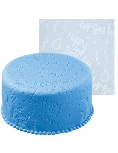 Tappeto Decorato Wilton Happy Birthday