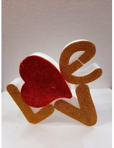 SCRITTA  LOVE SAN VALENTINO...