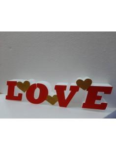 SCRITTA LOVE CON CUORICINI...