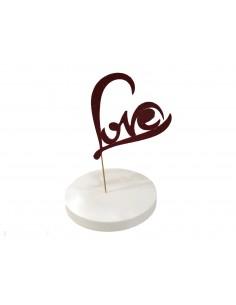 CAKE TOPPER LOVE ROSSO...