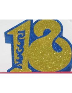 """NUMERO """"18"""" MEDIO BLU"""