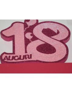 """NUMERO """"18"""" MEDIO FUXIA"""