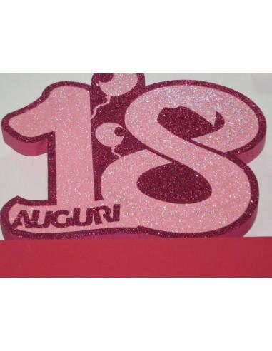 Tutto per le tue feste numero 18 gigante fuxia for Scritte in polistirolo prezzi