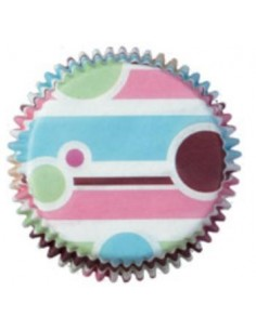 75 PIROTTINI PER CUPCAKES BUBBLE STRIPES