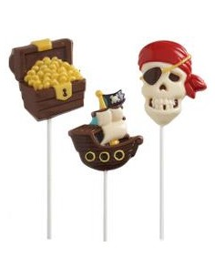 STAMPO CIOCCOLATTINO LOLLIPOP WILTON  MOLD PIRATE PIRATI