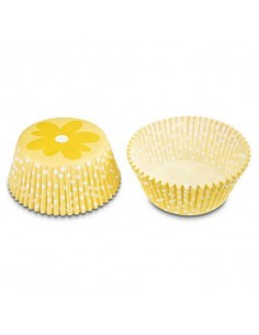 50 PIROTTINI PER CUPCAKES FLOWER YELLOWE