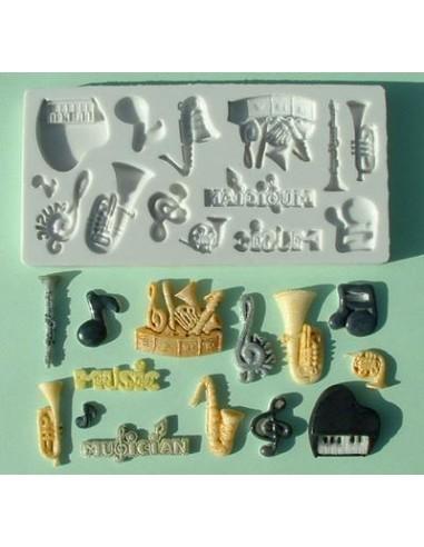 Mini Stampo in Silicone Strumenti musicali Music