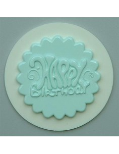 Mini Stampo in Silicone Cupcakes Topper Happy Bithday