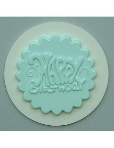 Mini Stampo in Silicone Cupcakes Topper Happy Bithday