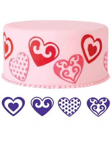 Set 4 Timbrini Cuore Wilton