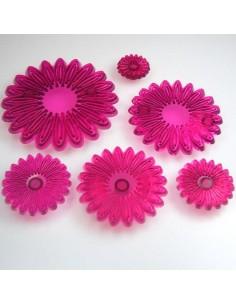 JEM CUTTERS MULTI PETAL DAISY set of 6 cm.10,5--8,5--7--5,5--4,5