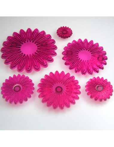 JEM CUTTERS MULTI PETAL DAISY set of 6 cm.10,5--8,5--7--5,5--4,5