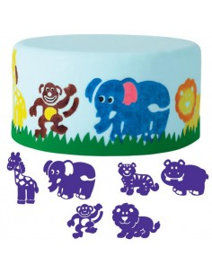 Set 6 Timbrini Animali Wilton