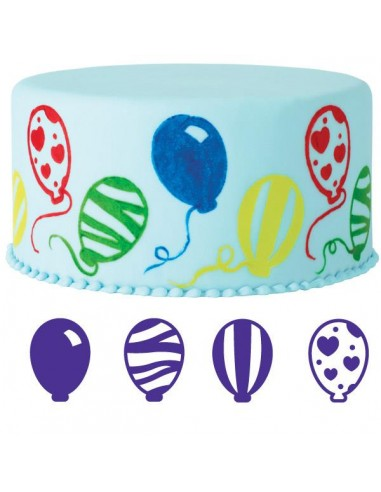 Set 4 Timbrini Palloncini Wilton
