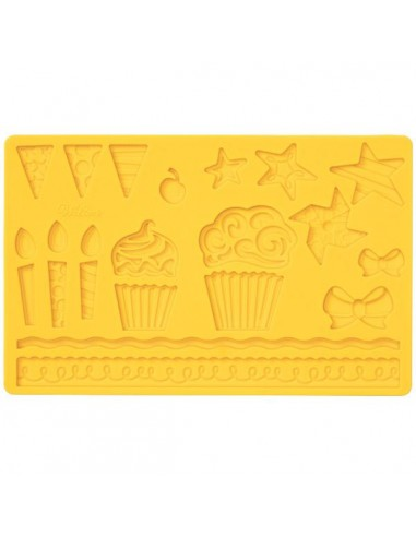 Stampo in Silicone Wilton Muffin Party Fondant and Gum Paste
