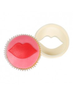 FMM Double Sided Cupcake Cutter Lips/Circle tagliapasta labbra