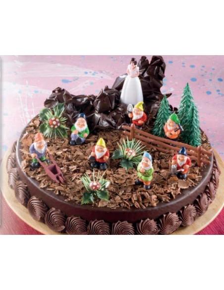 Kit per torte Biancaneve e i 7 nani