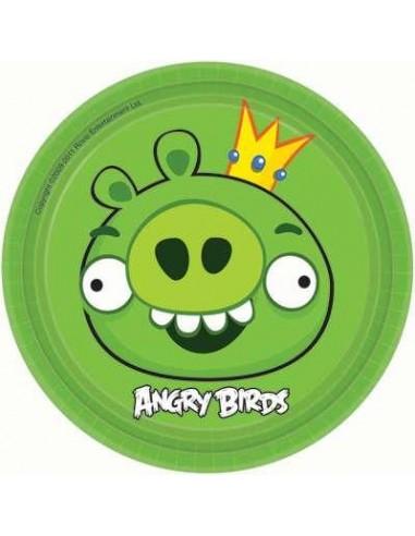 8 Piatti Cm 18 Angry Birds