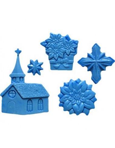 MINI STAMPO IN SILICONE CHRISTMAS CHURCH