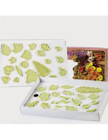 JEM 3- Selection of Leaves set/40 tagliapasta foglie 40 pezzi