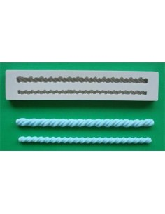 Mini Stampo in Silicone Barley Twist Patterned