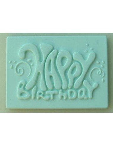Mini Stampo in Silicone Happy Birthday