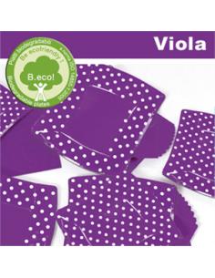 10 Piatti cm 24 Pois Viola