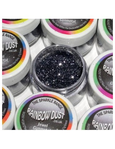 Glitter Sparkle Rainbow Dust Jewel Gunmetal