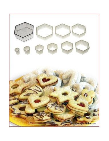 SET TAGLIAPASTA CUTTER NYLON REGULAR HEXAGON SILIKOMART
