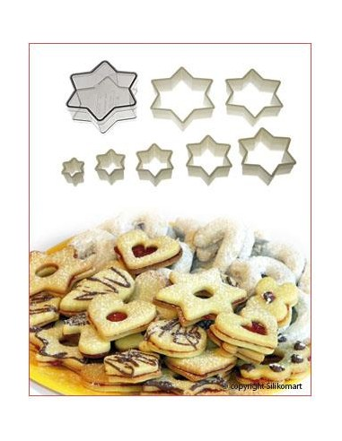 SET TAGLIAPASTA CUTTER NYLON REGULAR STAR DAVID  SILIKOMART