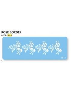 Stencil per torte Bordo Rose