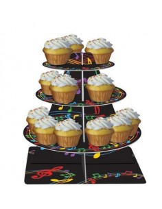 ALZATA PER MUFFIN CUPCAKES MUSIC NOTE