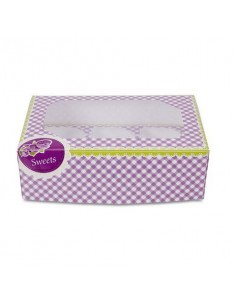 SET 2 SCATOLE PER 6 MUFFIN CUPCAKE SWEETS