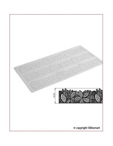Tappetino in Silicone per Pizzi Tricot Deco Leaves Silikomart