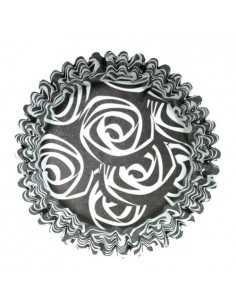 54 PIROTTINI PER CUPCAKES BLACK ROSES