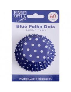 60 PIROTTINI PER CUPCAKES POIS BLUE