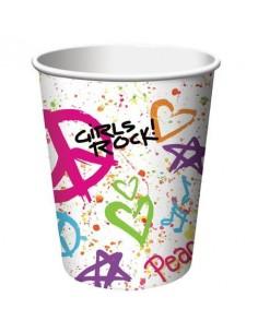 8 Bicchieri Girls Rock Peace