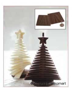 STAMPO ALBERO 3D TREE CHOC NATALE SILIKOMART