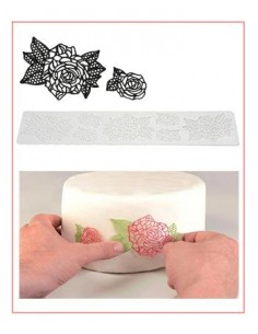 Tappetino in Silicone per Pizzi Tricot Deco Roses Silikomart