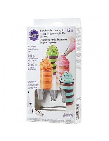 KIT 12 PEZZI CORNETTI+SAC A POCHE PER TREAT POPS WILTON