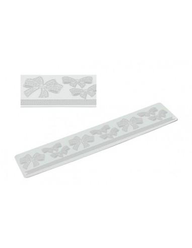 Tappetino in Silicone per Pizzi Tricot Deco Ribbon Silikomart