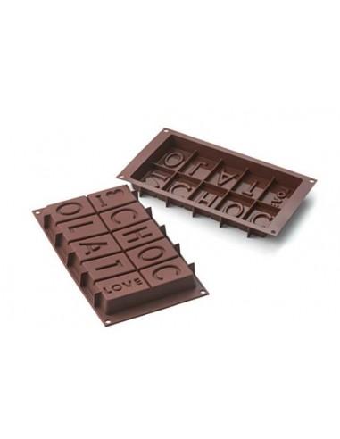 STAMPO IN SILICONE CIOCCOLATO I LOVE CHOCOLAT