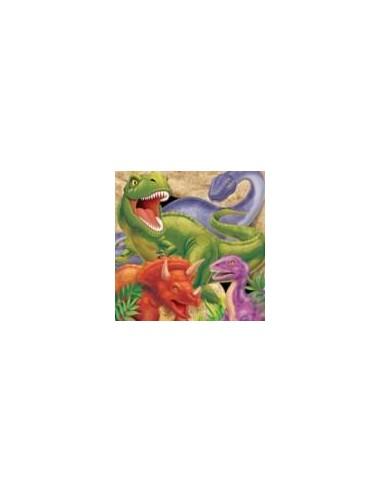16 Tovaglioli Cm 33x33 Dinosauri