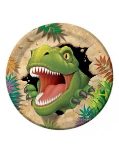 8 Piatti cm 18 Dinosauri