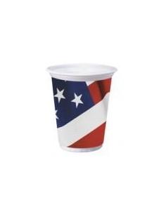 8 Bicchieri Bandiera Americana