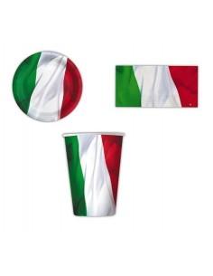 10 BICCHIERI BANDIERA ITALIANA MONDIALI 2014