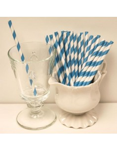 25 STECCHE STRIPES BLUE PER LOLLIPOP CM 20 CAKE POPS