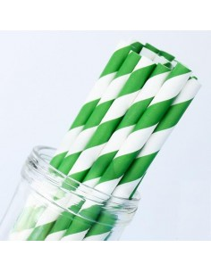 25 STECCHE STRIPES VERDE PER LOLLIPOP CM 20 CAKE POPS