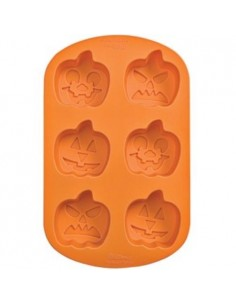 STAMPO IN SILICONE 6 ZUCCHE WILTON HALLOWEEN