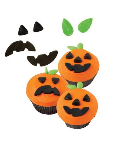 WILTON KIT DECORAZIONE CUPCAKE MUFFIN ZUCCA HALLOWEEN